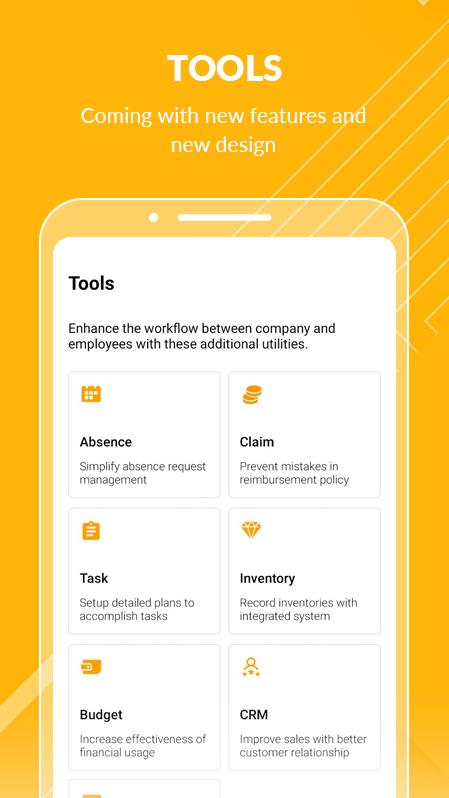 Tampilan Tools pada BOSS Pintar for Employee